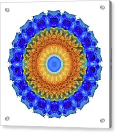 Third Eye Mandala Art By Sharon Cummings Acrylic Print by Sharon Cummings