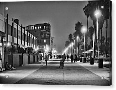 This Is California No. 11 - Venice Beach Biker Acrylic Print by Paul W Sharpe Aka Wizard of Wonders