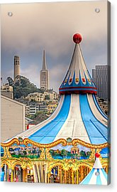 This Is San Francisco 1 Four Towers Acrylic Print by Paul W Sharpe Aka Wizard of Wonders