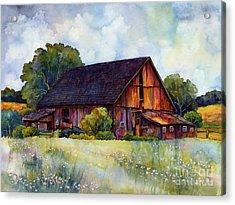 This Old Barn Acrylic Print by Hailey E Herrera