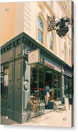 Bloomsbury London Shops Acrylic Print by Georgia Fowler