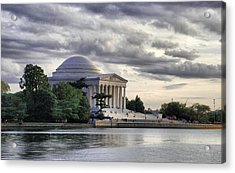 Thomas Jefferson Memorial Acrylic Print by Gene Sizemore