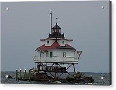 Thomas Point Shoal Lighthouse Acrylic Print by Paul Sutherland