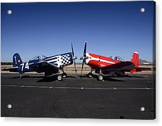 Thompson Trophy Goodyear F2g Corsair Reunion Falcon Field Arizona December 27 2011 Acrylic Print by Brian Lockett