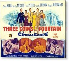 Three Coins In The Fountain, Clifton Acrylic Print by Everett
