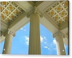 Three Columns Acrylic Print by Dan Holm