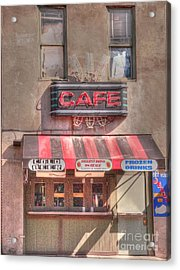 Three Forks Cafe Acrylic Print by David Bearden