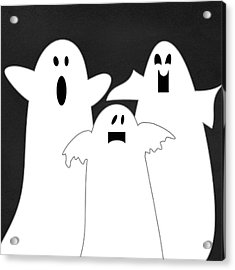 Three Ghosts Acrylic Print by Linda Woods