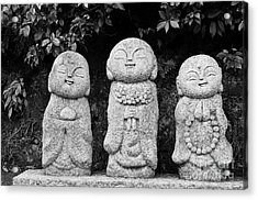 Three Happy Buddhas Acrylic Print by Dean Harte