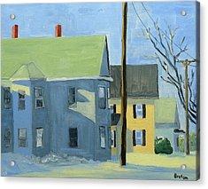 Three Houses Auburn Acrylic Print by Laurie Breton