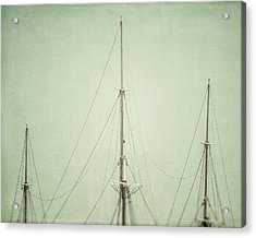 Three Masts Acrylic Print by Lisa Russo