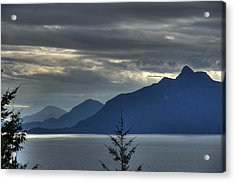 Three Mountains. Acrylic Print by Alexander Rozinov
