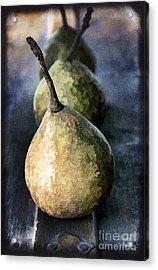 Three Pears Acrylic Print by Darren Fisher