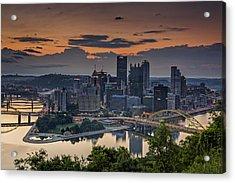 Three Rivers Sunrise Acrylic Print by Rick Berk