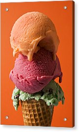 Three Scoops  Acrylic Print by Garry Gay