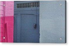Three Wall Day Acrylic Print by Ross Odom