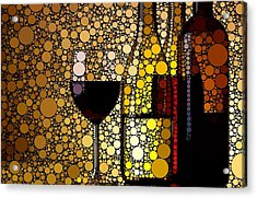 Three Wines Acrylic Print by Cindy Edwards