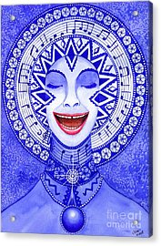 Throat Chakra Acrylic Print by Catherine G McElroy