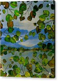 Thru The Aspen Acrylic Print by Carolyn Doe
