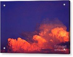 Thunderhead At Sunset Acrylic Print by Thomas R Fletcher