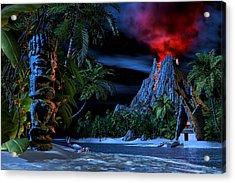 Tiki Jungle Acrylic Print by Alex George