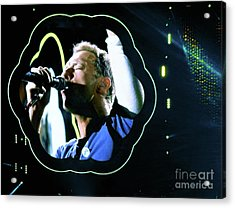 Chris Martin - A Head Full Of Dreams Tour 2016  Acrylic Print by Tanya Filichkin