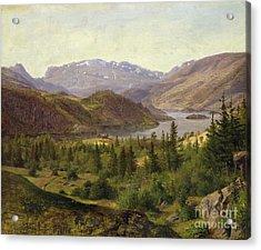 Tile Fjord Acrylic Print by Louis Gurlitt