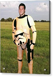 Tim Tebow Stormtrooper Acrylic Print by Paul Van Scott