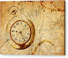 Time Acrylic Print by Michal Boubin