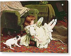 Time To Play Acrylic Print by Charles Burton Barber