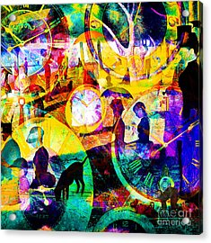 Timeless Art A Sunday On La Grande Jatte 20160229 Square Acrylic Print by Wingsdomain Art and Photography