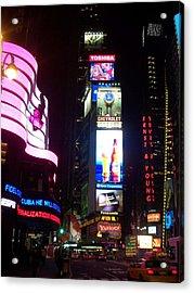 Times Square 1 Acrylic Print by Anita Burgermeister