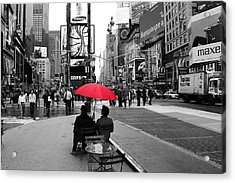 Times Square 5 Acrylic Print by Andrew Fare