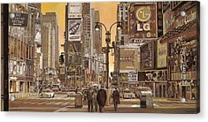 Times Square Acrylic Print by Guido Borelli