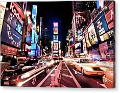 Times Square, Manhattan, New York Acrylic Print by Josh Liba