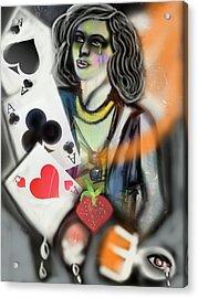 Times Up Gypsy  Acrylic Print by Pat Carafa