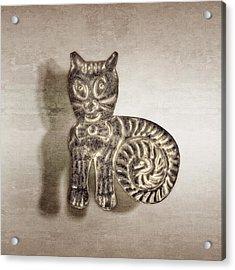 Tin Cat Acrylic Print by YoPedro