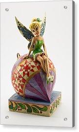 Tink On An Ornament Acrylic Print by Greg Thiemeyer