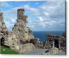 Tintagel Castle 1 Acrylic Print by Kurt Van Wagner