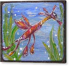 Tiny Anthropomorphic Sea Dragon 2 Acrylic Print by Michelley QueenofQueens