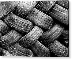 Tired Treads Acrylic Print by Todd Klassy