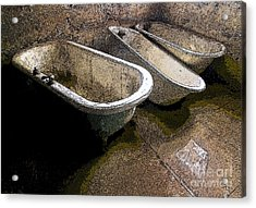 Tired Tubs 3 Acrylic Print by Norman  Andrus