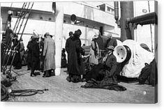 Titanic, Survivors Aboard Rescue Ship Acrylic Print by Everett