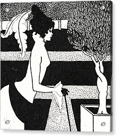 Title Page From The Yellow Book Acrylic Print by Aubrey Beardsley