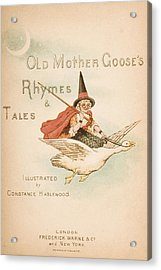 Title Page Illustration From Old Mother Acrylic Print by Vintage Design Pics