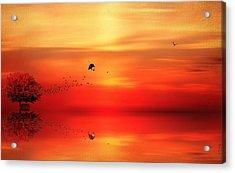 To Autumn Acrylic Print by Lourry Legarde