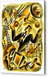 To Be A Businessman Acrylic Print by Leon Zernitsky