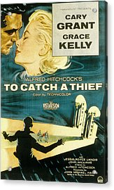 To Catch A Thief, Poster Art, Cary Acrylic Print by Everett