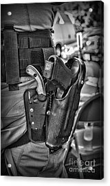 To Protect And Serve In Black And White  Acrylic Print by Paul Ward