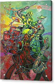 To The Beat On 2nd Street Acrylic Print by Larry Poncho Brown